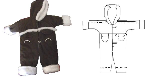 Зимние комбинезоны детские своими руками